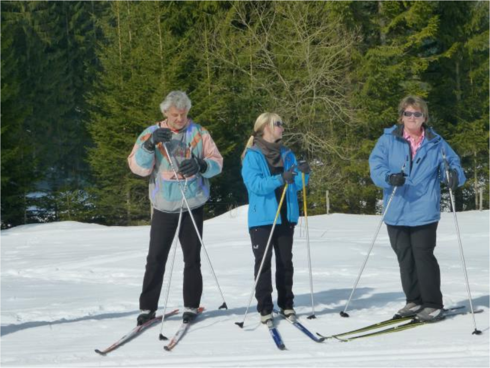 Skilanglauf in den Bergen am 17.03.2018